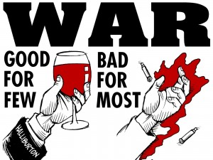 War Good For Few, Bad For Most